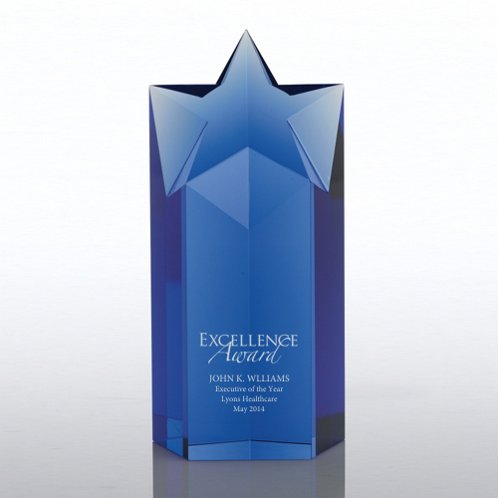 Blue Star Prism Trophy